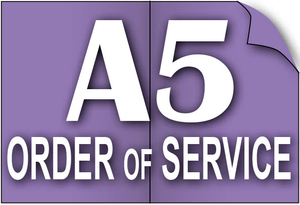 A5 Order of Service