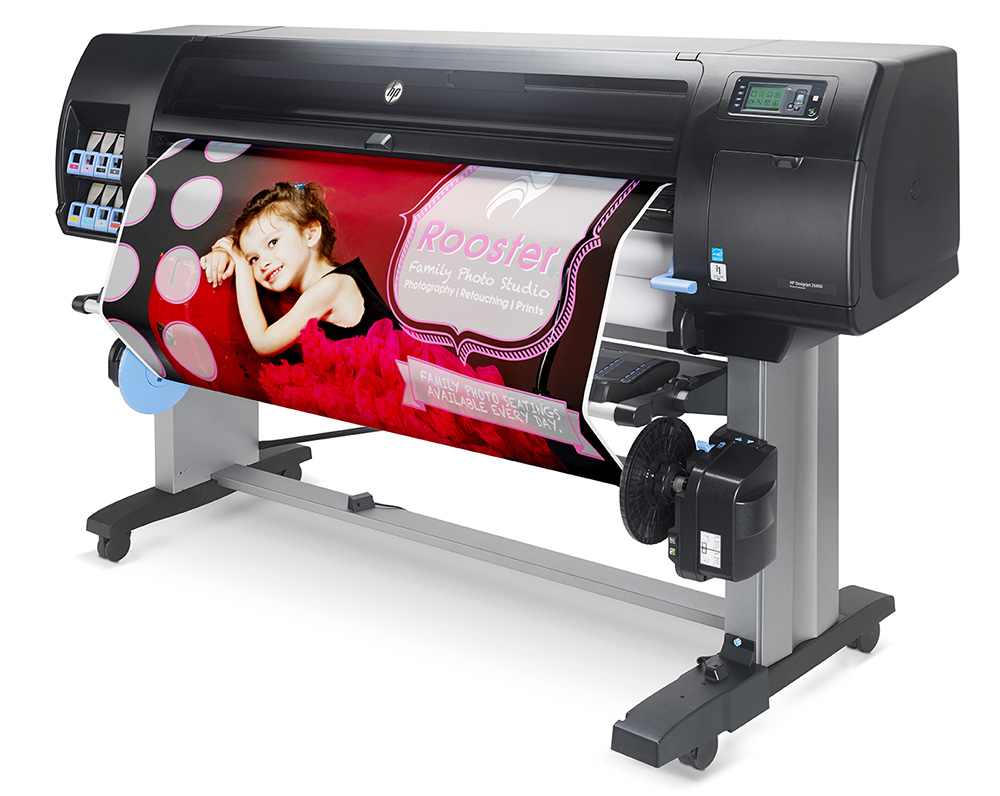 HP wide format photo printer