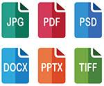 JPG, PSD, PPT, DOCX, TIFF & PDF printing